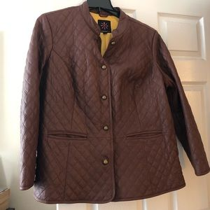 Isaac Mizrahi Leather Quilted Jacket